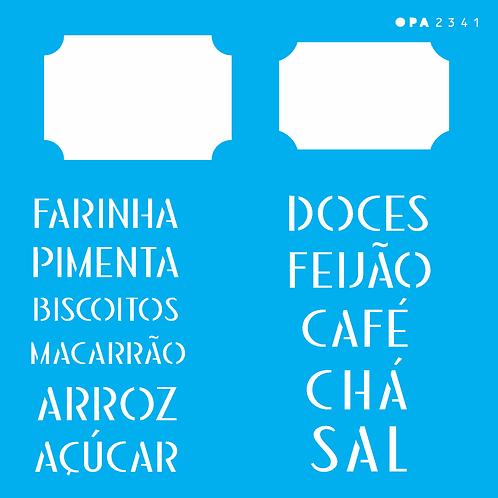 Stencil OPA 14×14  – Tag Alimentos