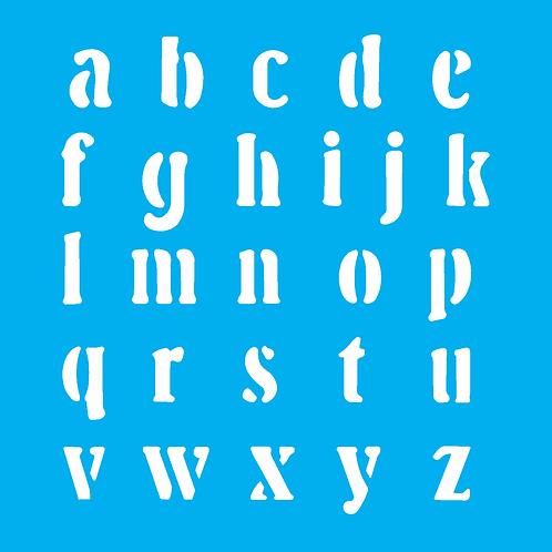 Stencil OPA 14×14  – Alfabeto II