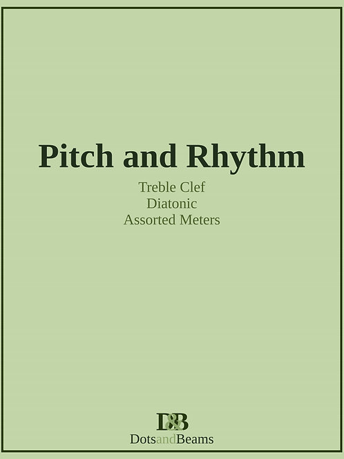 Pitch and Rhythm - Treble Clef (E-Book Copy)