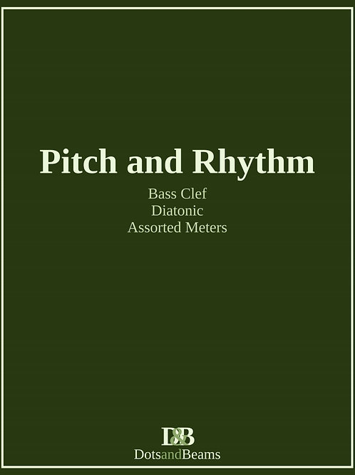 Pitch and Rhythm - Bass Clef (Print Copy)