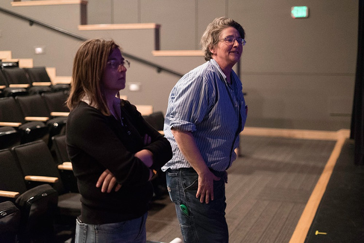 Stage Manager and Director in Rehearsal