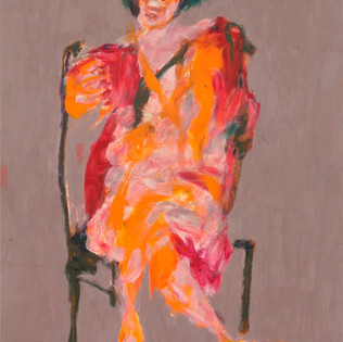 "A Sitting Woman ""Kim Young-Mi   슬픔을 안고 사는 사람 Oil on paper  39x53 2017 300만원  2 100€"