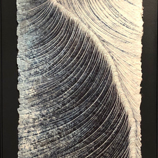 Chemin infini 2019 Hyunjoung LEE   Hanji.Pigment Coréen  152 x 53cm             6,000€