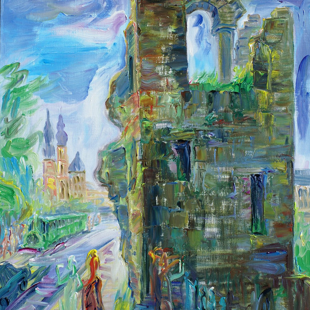 Hollow Tooth tower - Luxembourg Hollow Tooth tower - Luxembourg, Oil on Linen, 65 x 50cm 2000€