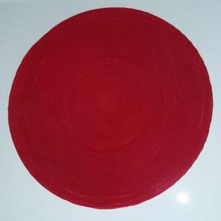 OKNAM LEE - WAVE Red on white 2019 OKNAM LEE  WAVE red on white 40 X40 CM  Hanji paper 2019   1300€