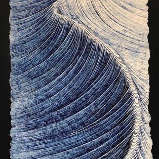 Petit chemin infini 2019 Hyunjoung LEE   Hanji.Pigment Coréen  100x 50cm          3,000€