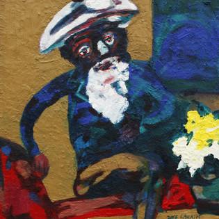 Resting painter - Kim Young-Mi  화가의 휴식 2016. oil on canvas. 38x45cm 250만원  2 000€