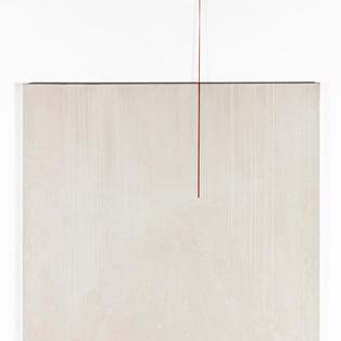 A fleur de peau : Remember ligth II Poudre de marbre sur le toile et pigments 100 X 100 cm, 2015