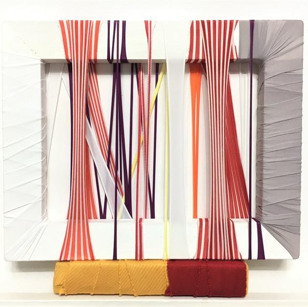 abricDrawing#58,2017, Tableau de tissu, fabrics.frame, 26.0x27.3cm, 2017   800€.