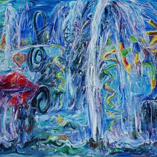 Stravinsky Fountain-Paris to Luxembourg Stravinsky Fountain-Paris to Luxembourg, Oil on linen 80.3x116.8cm 7000€