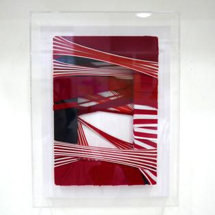 Fabric Drawing#57-1, 2017, fabrics frame, 22