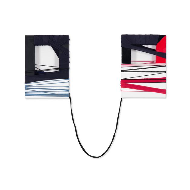 Fabric Drawing#42, 2016 2 tableaux de tissu, sur cadre en bois ,  installation  2 fois 22.7x15.8cm     (1200€)