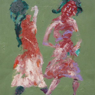Rhythmic dance - Kim Young-Mi 가락을 가짐, , 42x52cm, Oil on hardboard,2016   2 400€