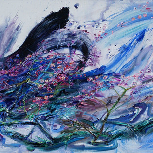 2,+Maehwa+(Plum+Blossoms)+2018-1,+Oil+on