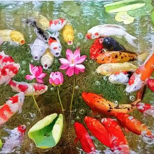 CARPES Kwang Chol RI   Peinture à huile sur toile  160cm × 80cm  2 700€