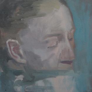 HYUK-DONG JANG - 시선, 31x36cm, oil on canvas