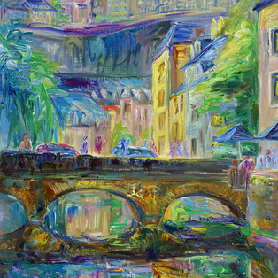 CHANG HAN KIM Grund Bridge Grund Bridge, Oil on Linen, 65 x 50cm? 2000€