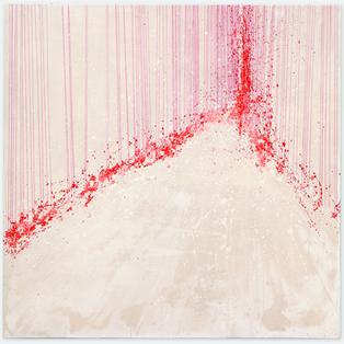 A fleur de peau Kim Sun Mi,  2015 , poudre de marbre et pigments , 150 x 150 cm