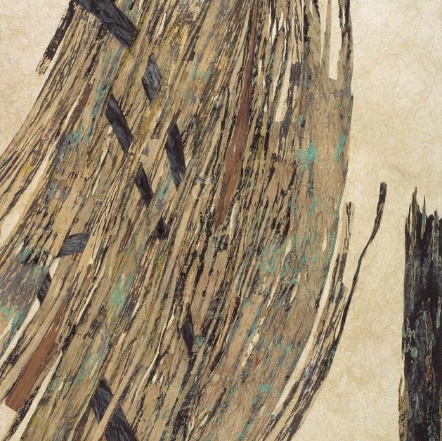 Eternal recurrence, A-Ryung LEE   72.7x91cm, Acrylic on Hanji paper, paper cord, 2008   VENDU