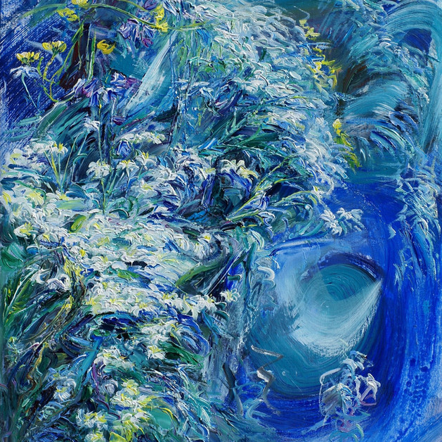 Neige en été flowers-Luxembourg,Oil on Linen, 65 x 50cm 2000€
