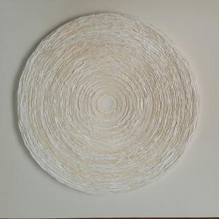 OKNAM LEE WAVE WHITE ON WHITE 2019 OKNAM LEE - WAVE WHITE ON WHITE  40 X40 CM  Hanji paper   1300€