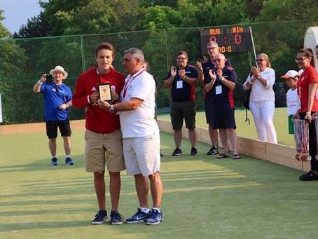 Louis Collignon awarded best goalkeeper of the Eurohockey U-16 Championships II Boys