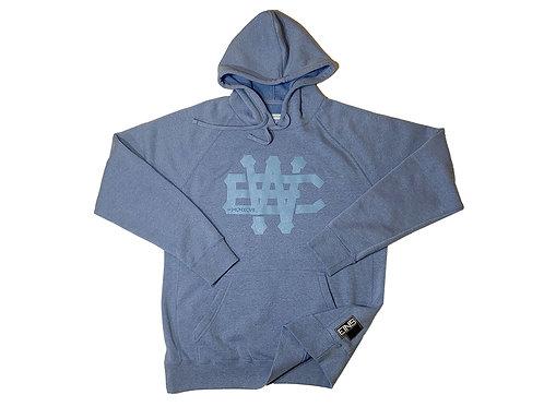 """""""EW"""" Sky Blue Raglan Hood"""