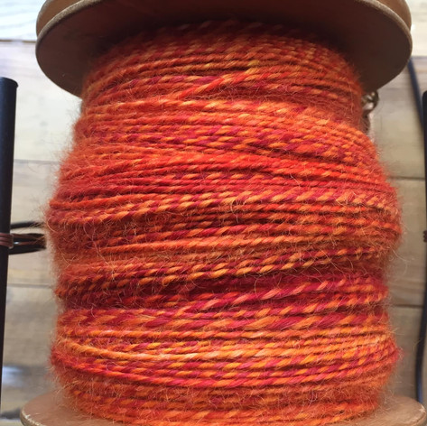 Beautiful hand-spun and plied yarn