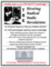 Flyer Radical Riveting Radio Revelations