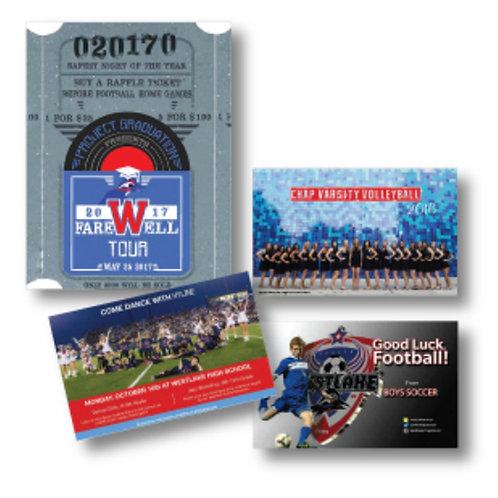 School Organization Standard Recognition Ad - Football Program