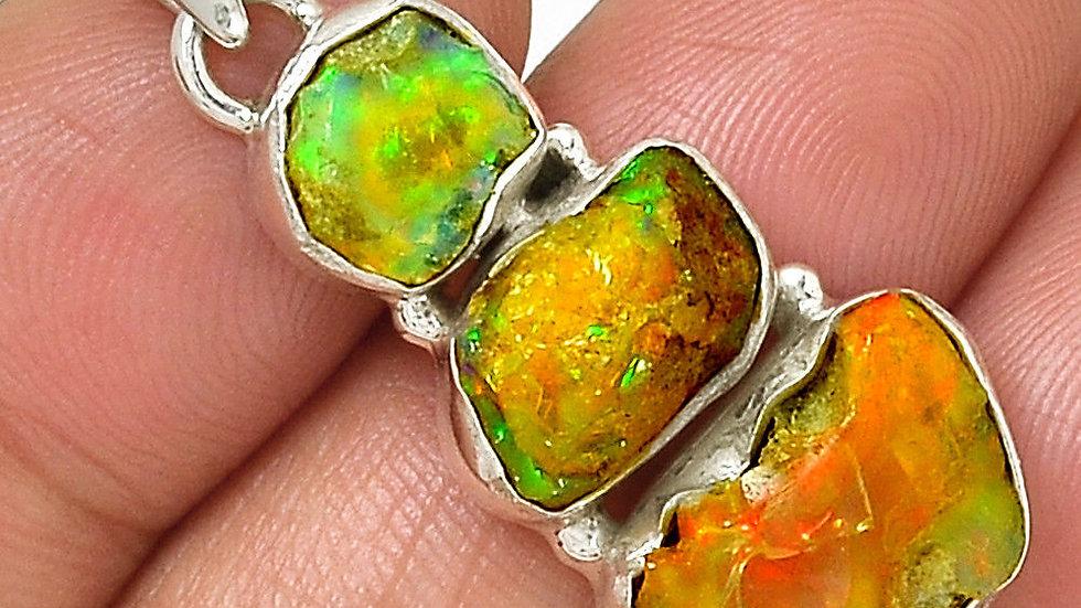 Natural Ethiopian Welo Opal nugget pendant