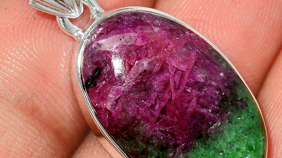 Ruby in Zoisite pendant