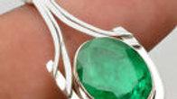 Zambian Emerald mounted in .925 Sterling Silver.