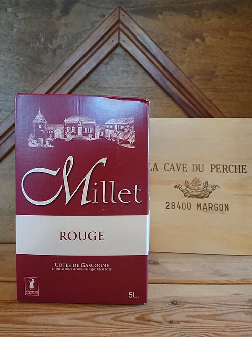COTE DE GASCOGNE ROUGE - 5L - DOMAINE MILLET
