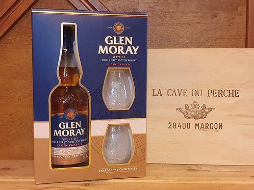 GLEN MORAY - CHARDONNAY COFFRET 2 VERRES - SPEYSIDE