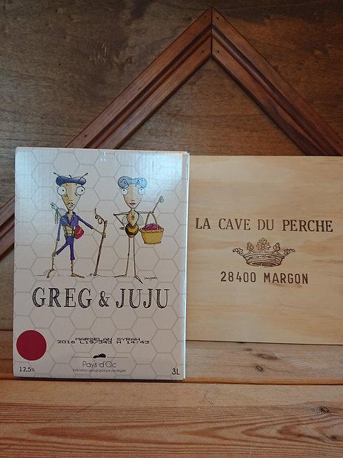 GREG ET JUJU-  ROUGE CUBI 3L - PREIGNE LE VIEUX