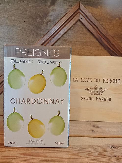 CHARDONNAY - CUBI 5L -  PREIGNE LE VIEUX
