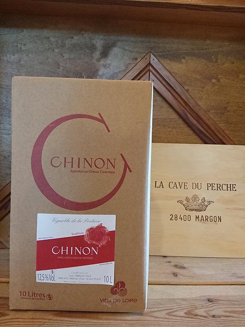 CHINON ROUGE- CUBI DE 10L - DOMAINE DE LA POELERIE
