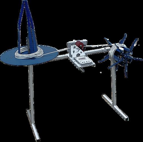Устройство для мерной перемотки провода, каната, кабеля, шланга, веревки