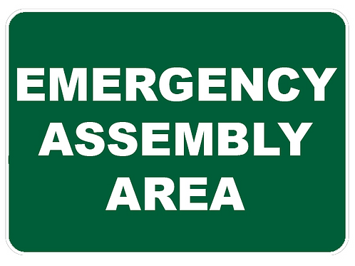 Emergency Assembly Area Sign A3