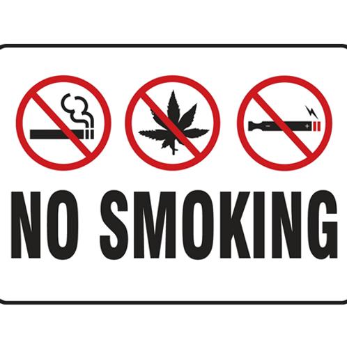 No Smoking - All Types A3