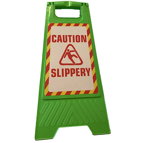 A FRAME STAND Caution Slippery