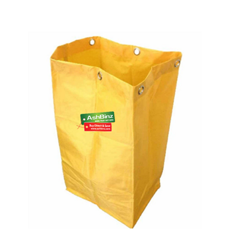 Cleaners Trolley Yellow Bag - Plain