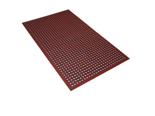 Industrial Rubber Mat Work Save Work zone Terracotta Rubber