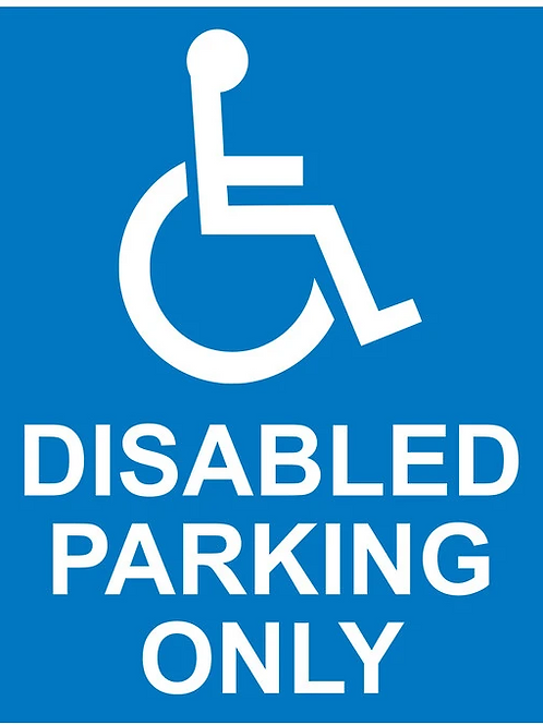 Disabled Parking Only A3
