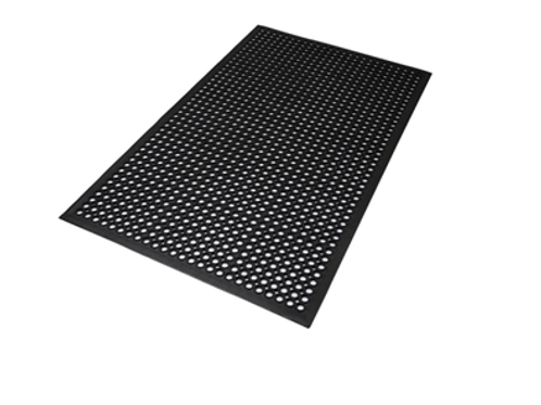 Industrial Rubber Mat Work Save Workzone Black Rubber