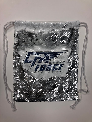 CFA Sequin Drawstring Bag