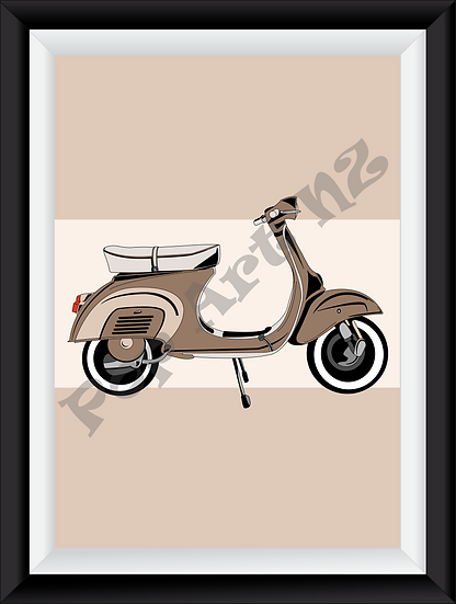 Limited edition Scooter Motorbike - Antique