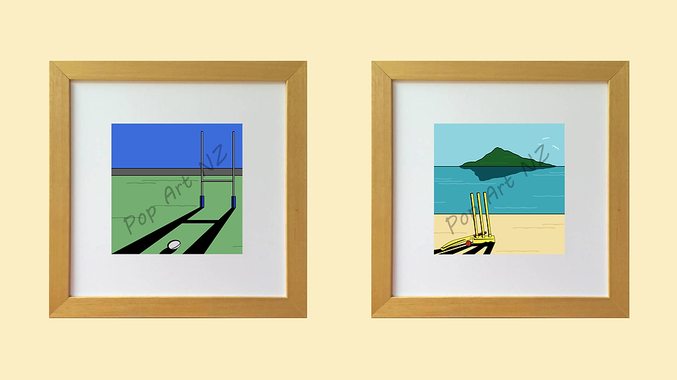 Limited edition Rugby & beach cricket prints
