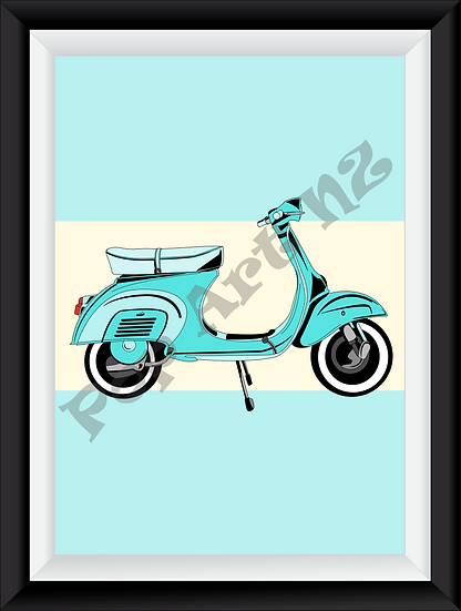 Limited edition Scooter Motorbike - Arctic